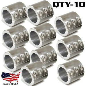 Details about 10 Clamp On 6 Bolt Steel DOM Fabrication Clamp 1 5 Roll Bars  Cage Tubing Weld On