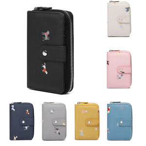 Women-Wallet-039-Dogs-in-Jumpers-039-Purse-Card-and-Cash-Holder-Zipper-Organizer