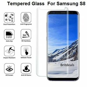huge selection of bbd39 4708e Glass Screen Protector For Samsung Galaxy S8 - 100% Genuine Tempered ...