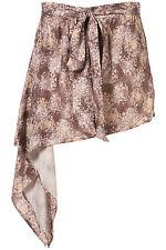TOPSHOP Floral Wrap Belted Asymmetric Dip Waterfall Skirt UK16 EU44 US12 BNWT
