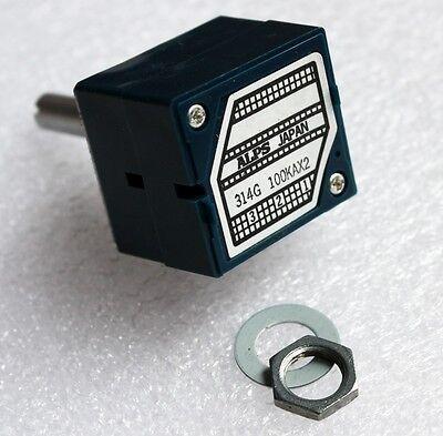 Original ALPS RK27 VOLUME Dual 100K audio amplifier Potentiometer Round shaft