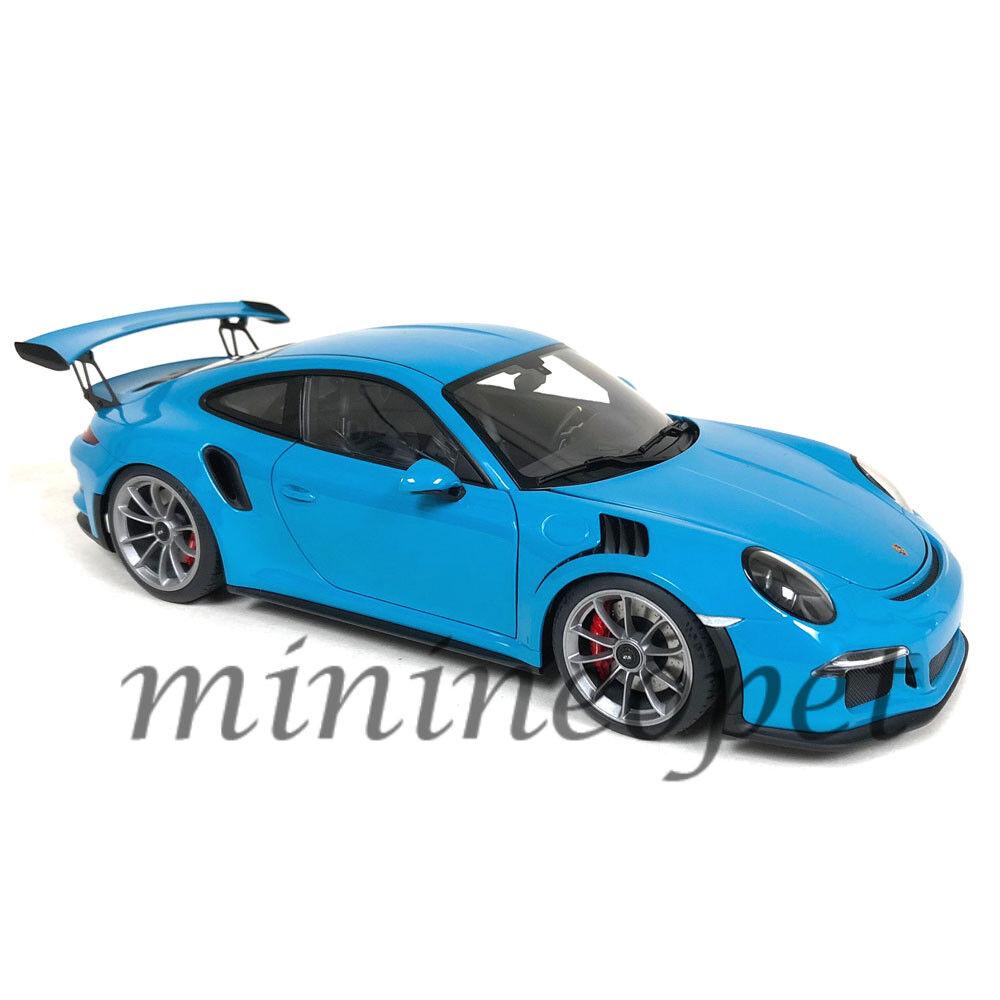 bilkonst 7867 PORSCHE 911 991 GT3 RS 1  18 MIAMI blå med DARK GREELES