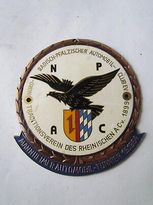 Accessoires & Fanartikel Automobilia Autoplakette Plakette Badge Placca Klug Mannheimer Automobil-turnier 1964