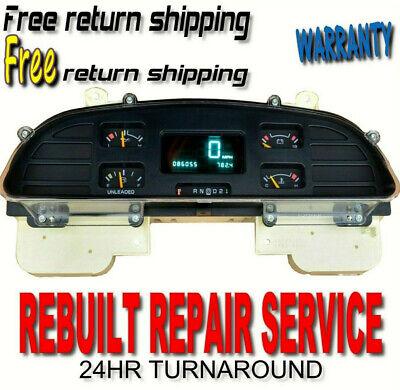 REPAIR SERVICE Cluster Display 1994-1996 Chevrolet Caprice//Impala Speedometer