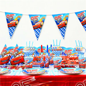 Disney-Cars-McQueen-Fete-D-039-Anniversaire-Sac-Fournitures-Ballon-Table-Decoration-UK