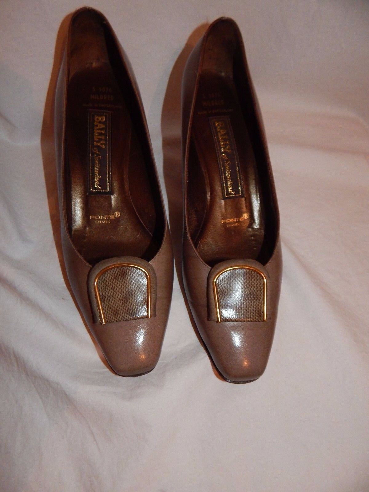 Bally of Switzerland Mildred Vintage   Vintage Pelle Classic  Pumps Size 9 M S5076 2b2bfe