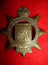The West Nova Scotia Regiment King's Crown Cap Badge, WW2 Canada