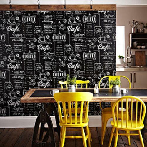 Superfresco Easy Noir//Blanc Café Papier peint