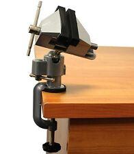 "Vises Bench Swivel w/ Clamp 3"" Tabletop Vise Tilt Rotates 360° Work Bench Tool"