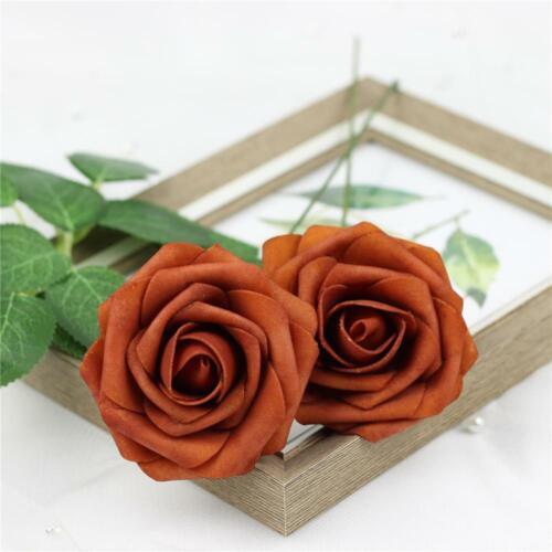 12pcs Foam Roses Artificial Fake Flowers Party Wedding Bride Bouquet Home Decor