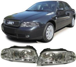 Facelift-DE-Klarglas-Scheinwerfer-Paar-fuer-Audi-A4-B5-Limousine-Avant-99-01
