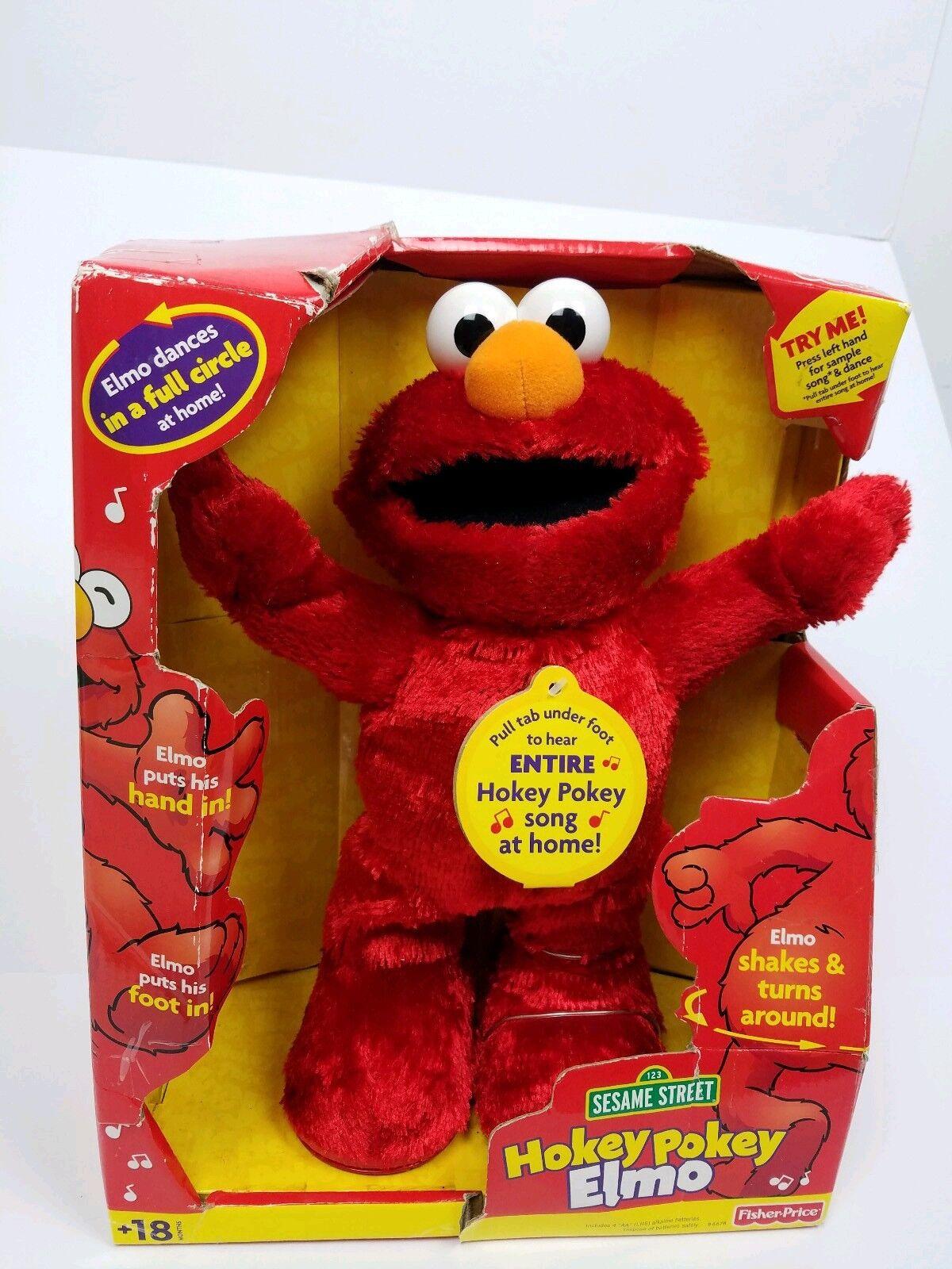 2002 Hokey Pokey Elmo Sesame Street Fisher Price Mattel-Coleccionable