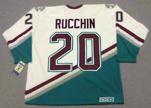 d35dfc93 STEVE RUCCHIN Anaheim Mighty Ducks 2004 CCM Vintage Throwback Away ...
