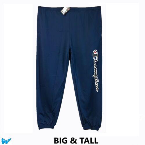 Champion Navy Blue Spell Out Scrip Logo Pants Gym Lounge Big /& Tall 5XL EPO-V4