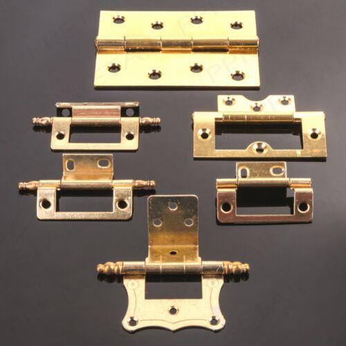 BRASS HINGE RANGE Grand Cupboard//Cabinet Door Fixing Double Cranked Flush Finial