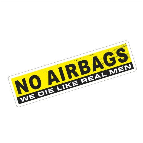 1 x 3M Graphics NO AIRBAGS Vinyl Helmet Tool Box Motorcycle Car Sticker Decal