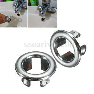 Round sink overflow cover tidy trim for ceramic spares artistic basin - Bathroom Basin Sink Spares Round Overflow Cover Tidy Trim