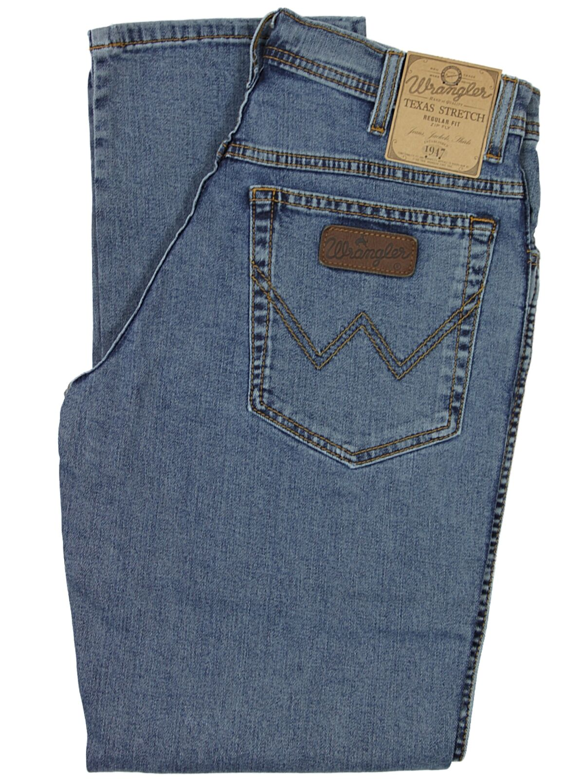 WRANGLER BNWT MENS TEXAS STONE WASH STRETCH REGULAR FIT FIT FIT JEANS 30 TO 50 62ce87