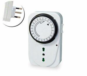 Presa elettrica Timer programmabile 24H analogico corrente controllo casa