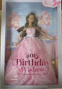 Image Is Loading MATTEL BARBIE COLLECTOR PINK LABEL 2015 BIRTHDAY WISHES