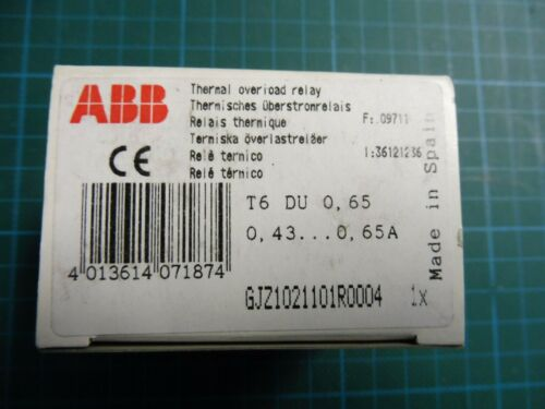 1 x ABB Thermisches Überlastrelais T6DU; 5,5-8,0A; GJZ1021101R0013