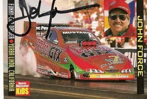 John-Force-SPORTS-ILLUSTRATED-FOR-KIDS-NHRA-CASTROL-signed-card-FREE-SHIPPING