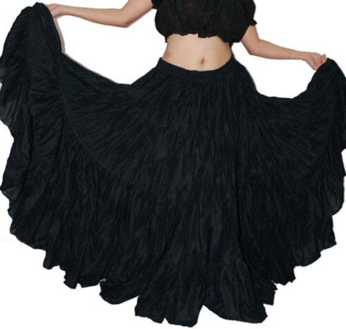 Wevez Theatrical Tribal Bellydance 12 Yard Skirt 12 Colours Options