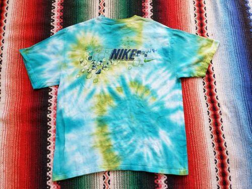Vintage 90's Y2K Nike Swim Tie Dye AOP T Shirt Si… - image 1