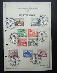 Germany-Nazi-1939-Stamps-Used-Buildings-Castle-WWII-Third-Reich-German-Deutschla