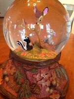 Disney Bambi Snow Globe Wonders Within Collection Hallmark Rare