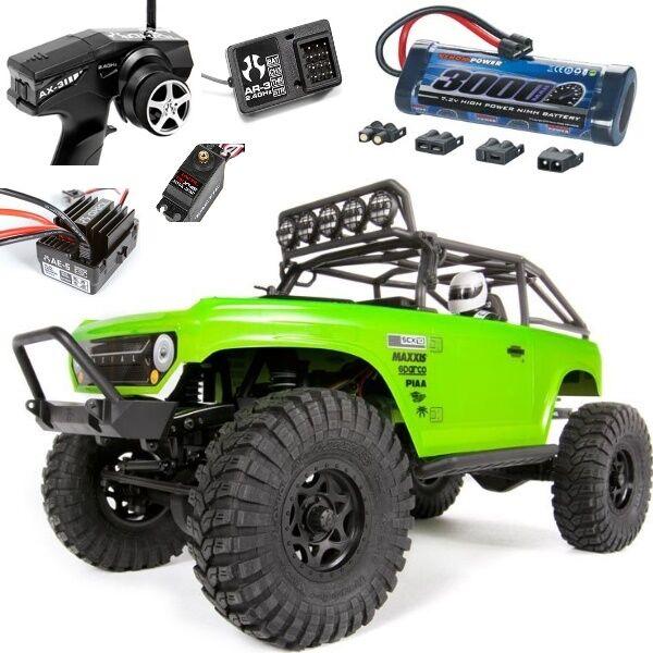 Axial AX90044 1/10 SCX10 Deadbolt 4WD RTR Rock Crawler w/ Free Battery