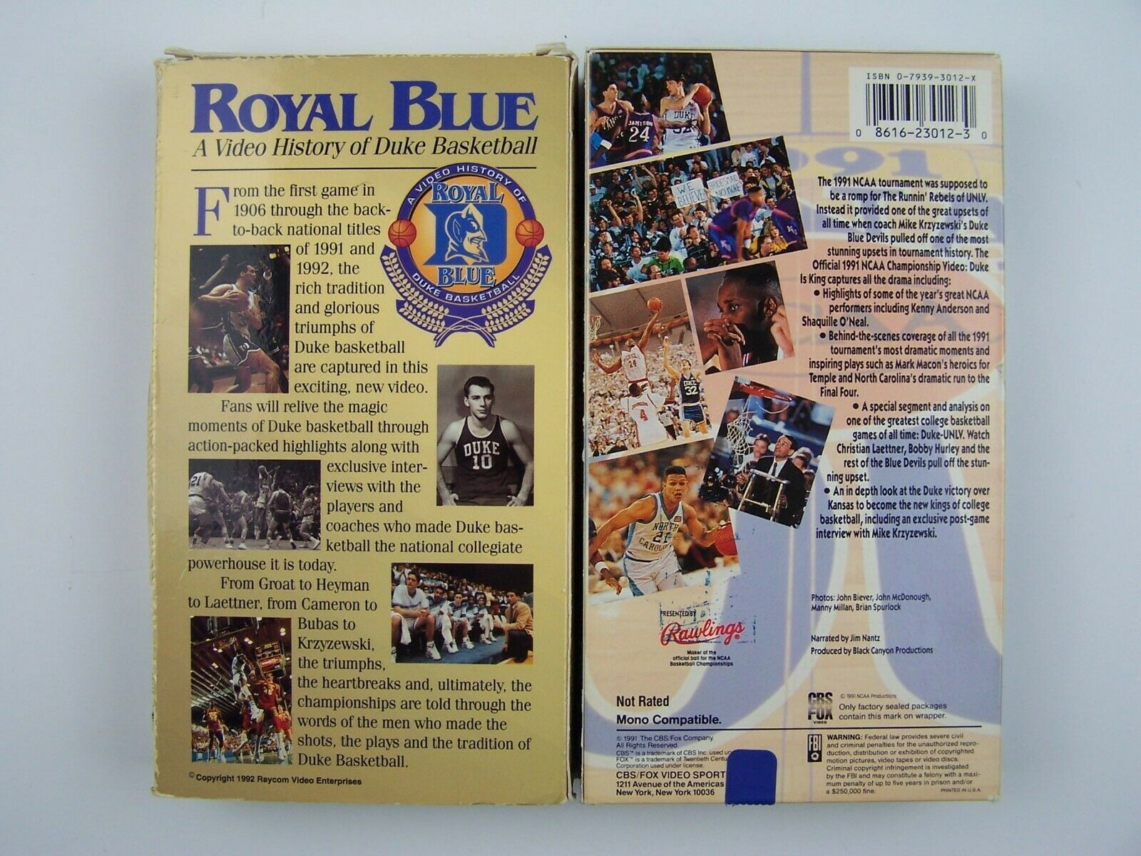 Duke University Basketball History VHS Video Lot