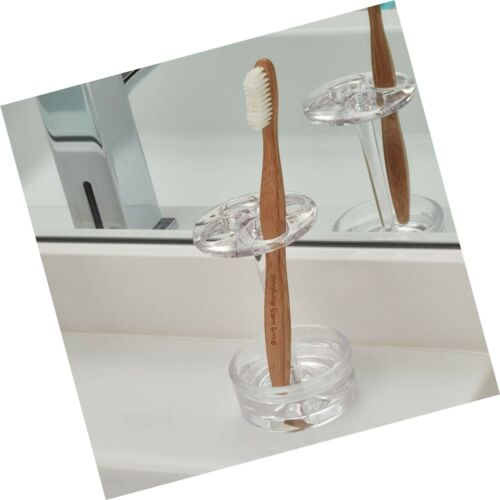 Details about  /iDesign Eva Plastic Toothbrush Holder Stand for Bathroom Vanity Countertops ...