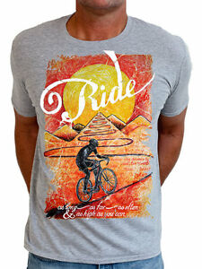 NEW-Ride-until-the-sun-sets-men-039-s-t-shirt-by-Cycology-Clothing