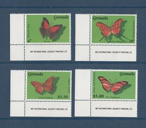 TIMBRE-STAMP-4-GRENADE-Y-amp-T-1819-22-PAPILLON-BUTTERFLY-NEUF-MNH-MINT-1989-C57