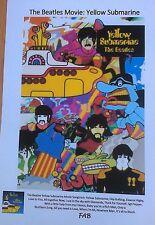 Unique Beatles Yellow Submarine A4 Colour Movie Poster + Songtrack/Lyrics