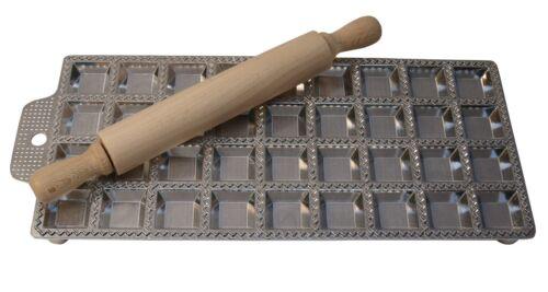 Raviolatrice manuale Stampo 36 ravioli quadrate e Mattarello