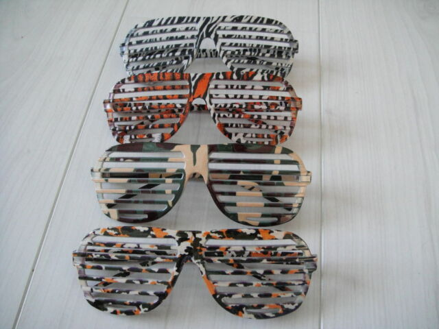 f219a40aeb 80 s Style Sunglasses Shutter Shade Fancy Dress Costume