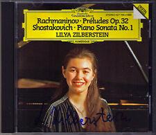 Lilya ZILBERSTEIN Signiert RACHMANINOV 13 Preludes Op.32 SHOSTAKOVICH Sonata CD