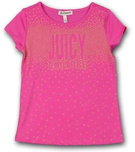 1f56e9cfe575b Juicy Couture Kids Girl s Pink Star Embellished T-Shirt JCTTG0546 ...