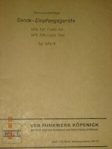 UKW-Sprechfunkgeraete-UFS721-Service-und-Schaltbilder-RFT-Funkwerk-Koepenick