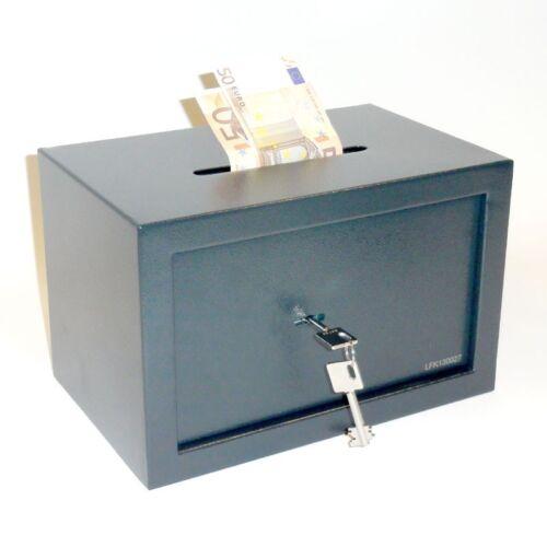 Tresor Möbeltresor Safe mit Einwurfschlitz 21l Doppelbartschlüssel ca