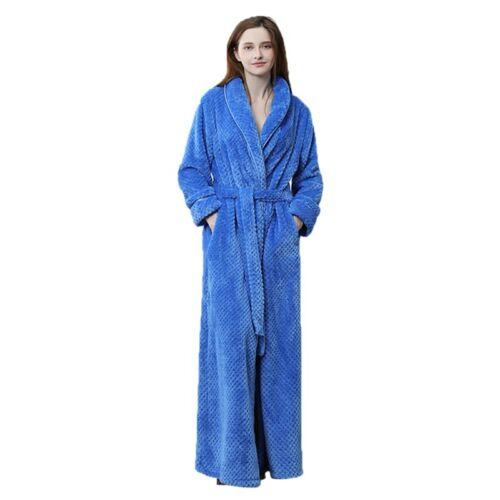 Men Women Bathrobe Soft Homewear Sleepwear Coral Fleece Nightgown Winter Warm