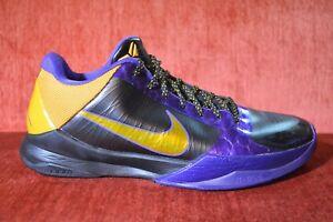 e66b03d79145 WORN TWICE Nike Zoom Kobe 5 V Lakers Away Del Sol 386429-071 Size 12 ...