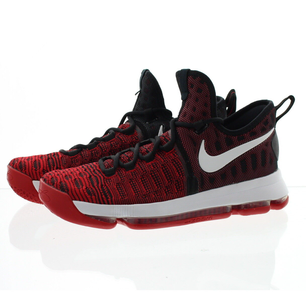 Nike 843392 Mens Zoom Kevin Durant 9 Low Top Basketball shoes Sneakers Red
