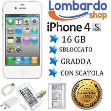 APPLE IPHONE 4S BIANCO 16GB GRADO A ORIGINALE RICONDIZIONATO CON SCATOLA