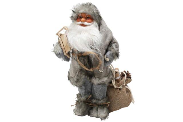 DEKO Weihnachtsmann Figur rot mit Laterne Ca 40cm | eBay