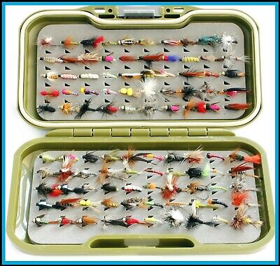 Starter Kit Tackle Fly Box Mixed Snatchers Wet for Trout Fly Fishing