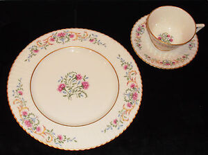 DISCONTINUED LENOX CHINA OLD CINDERELLA PATTERN 3 PIECE PLACE ...