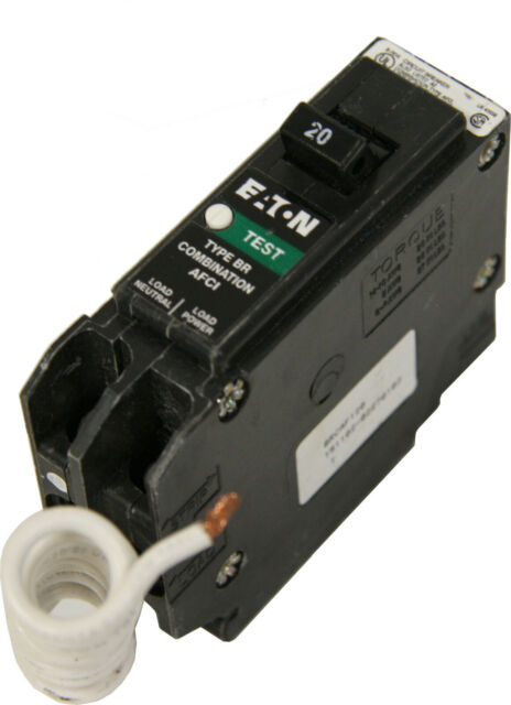 Eaton Brcaf120 Combination Afci Circuit Breaker 20a 1 Pole